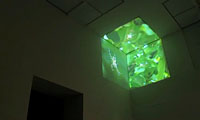 Eike: Cube, three channel video installation, 2008, photo: Museum Kunst Palast, D�sseldorf, 2009