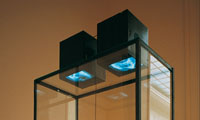 Eike: Divers, two channel video installation, 1995, photo: Zolt�n Kerekes, Kunsthalle, Budapest