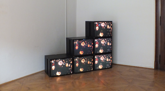 Eike: Spread, one channel video on multiple monitors, 2012, photo: Art Stays Festival 10, City Museum, Ptuj 2012